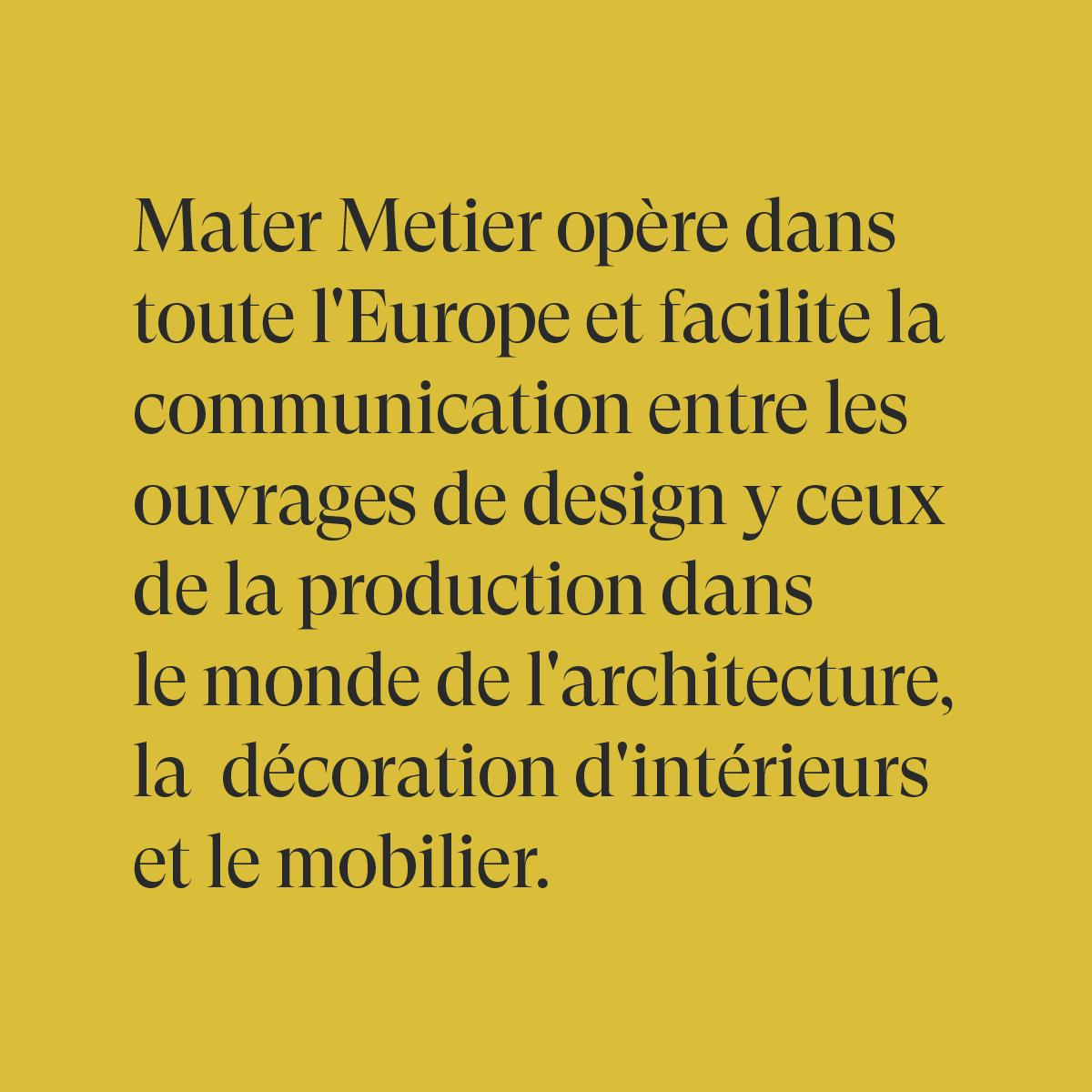 Mater Metier